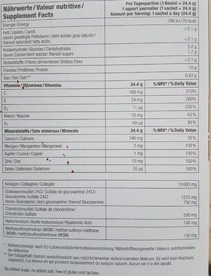 Drink ExtraCellMatrix ECM - Nutrition facts - fr