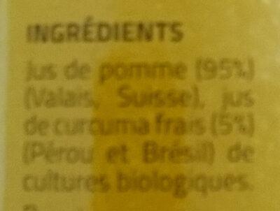 Jus de pomme et curcuma - Ingredients - fr