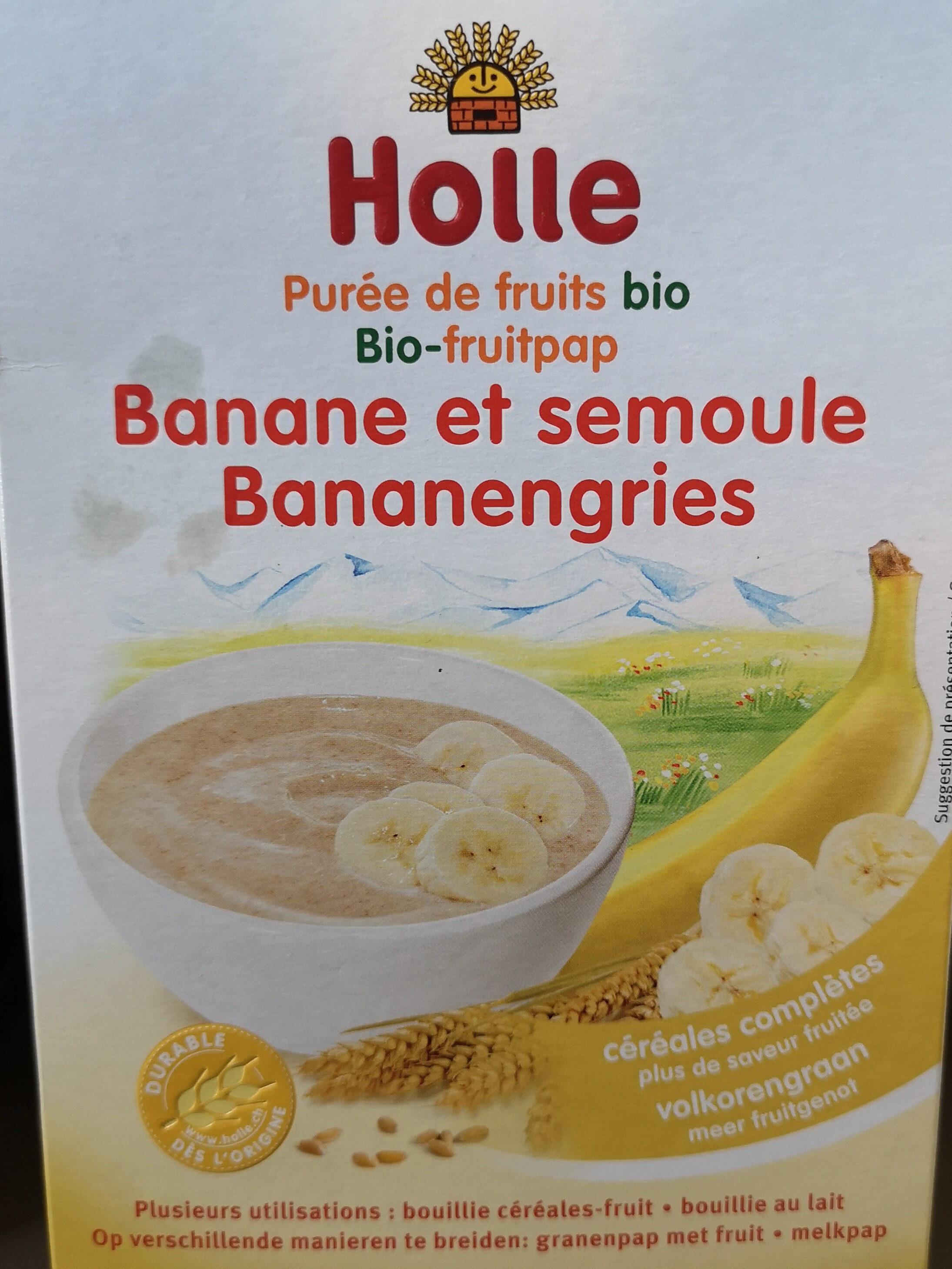 Puree De Fruits Banane Et Semoule Des 6 Mois - Produit