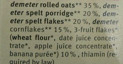 Organic Junior Muesli - Multigrain With Fruit 250G - Ingredientes