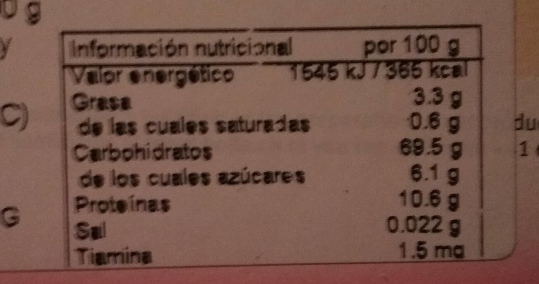 Organic Junior Muesli - Multigrain With Fruit 250G - Información nutricional