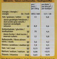 Babykeks Dinkel - Voedingswaarden - fr