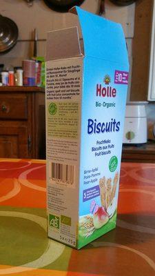 Holle Bio-biscuits Birne Apfel 125 G - 4