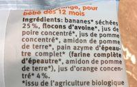Holle Minis Fruchtschnitten Banane Orange, 8X 12,5 GR Packung - Ingredients