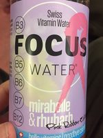 Focus water - Product