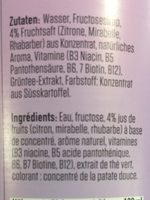 Focus water - Ingredients