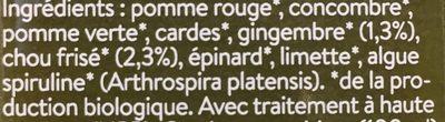 Dr greenjuice - Ingrédients - fr