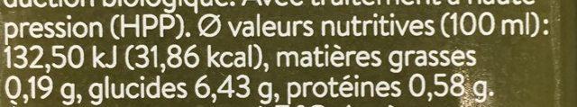 Dr greenjuice - Informations nutritionnelles - fr