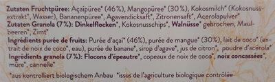 Bio Açai Bowl - Ingredienti - de
