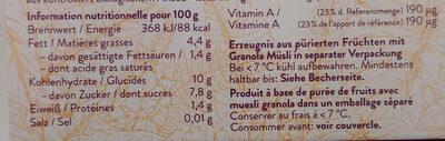 Bio Açai Bowl - Valori nutrizionali - de