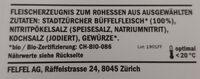 Stadt Jaegerli Büffel - Ingredienti - de