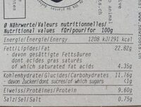 Free the cow Spread - Nutrition facts - fr