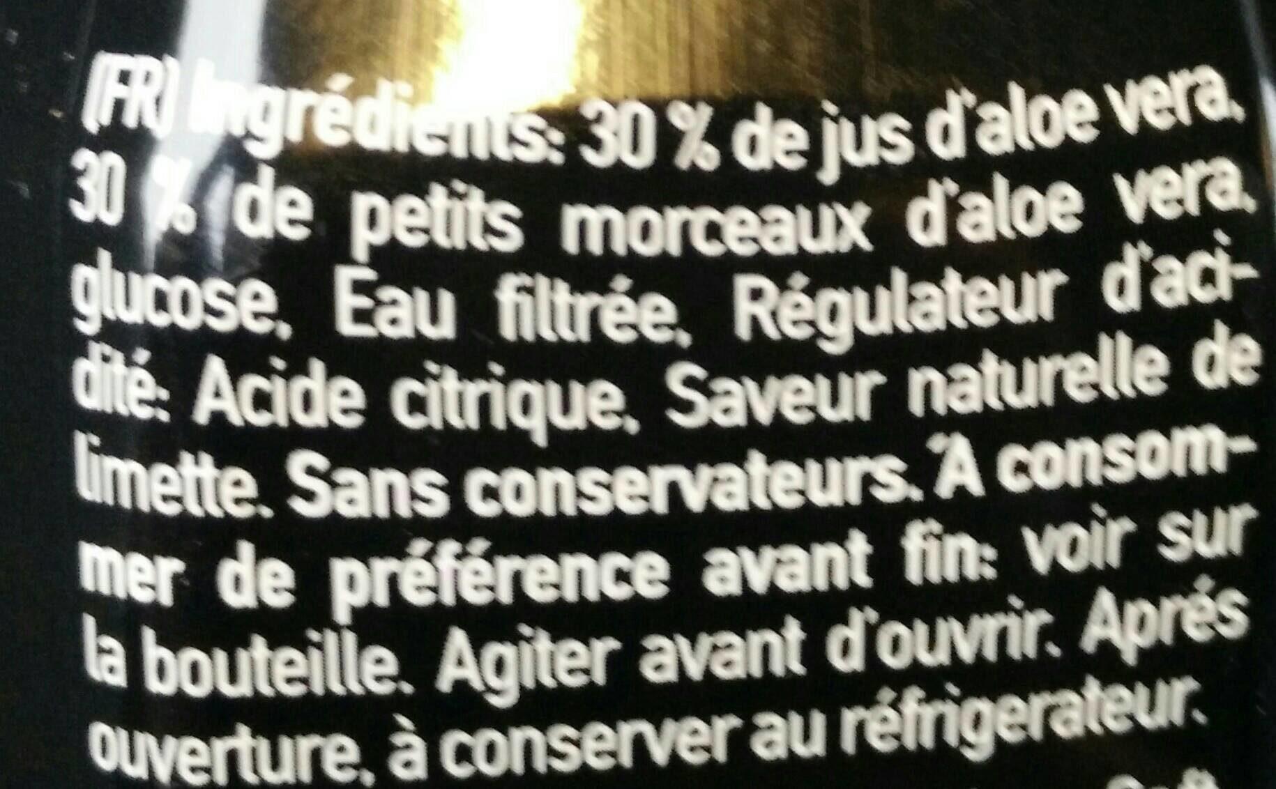 We love Aloe lime - Ingredients - fr