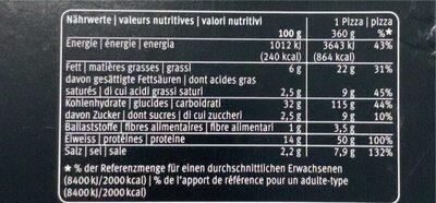 La Pizza Prosciutto Crudo - Valori nutrizionali - it