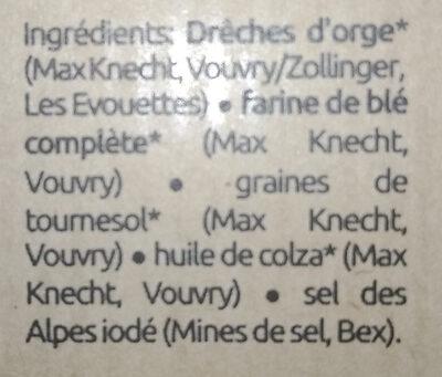 L'original | crackers.bio - Ingredients - fr