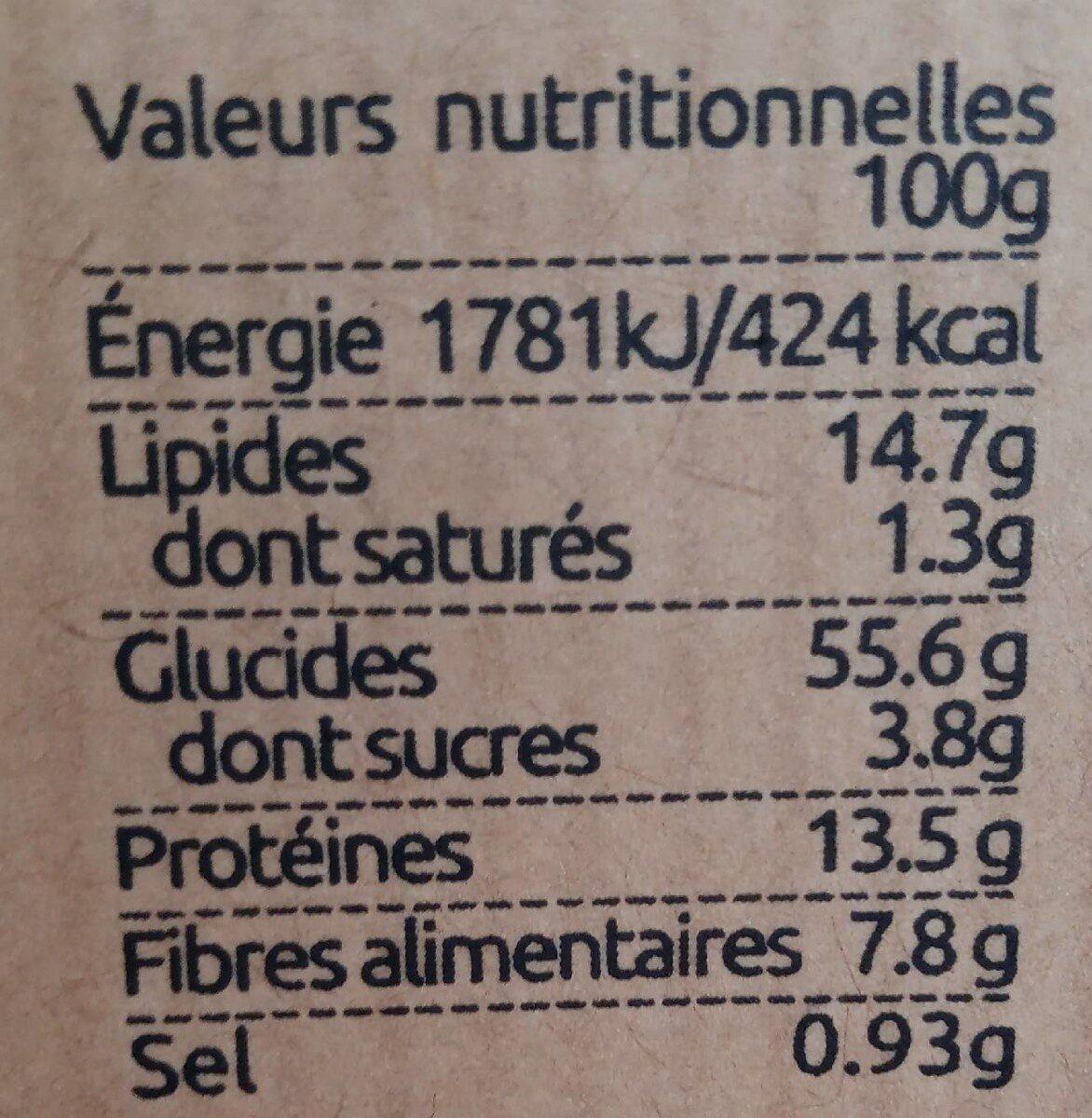 L'original   crackers.bio - Informations nutritionnelles - fr