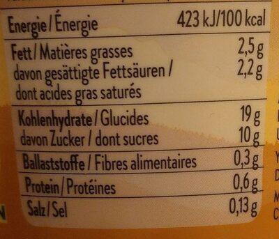 9Hylls caramel - Informations nutritionnelles - fr