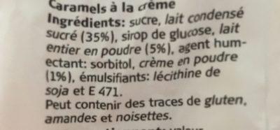 Caramel - Ingrediënten - fr