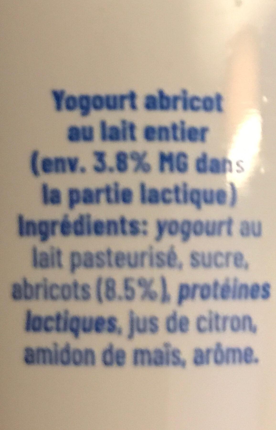 Yogourt - Ingrédients