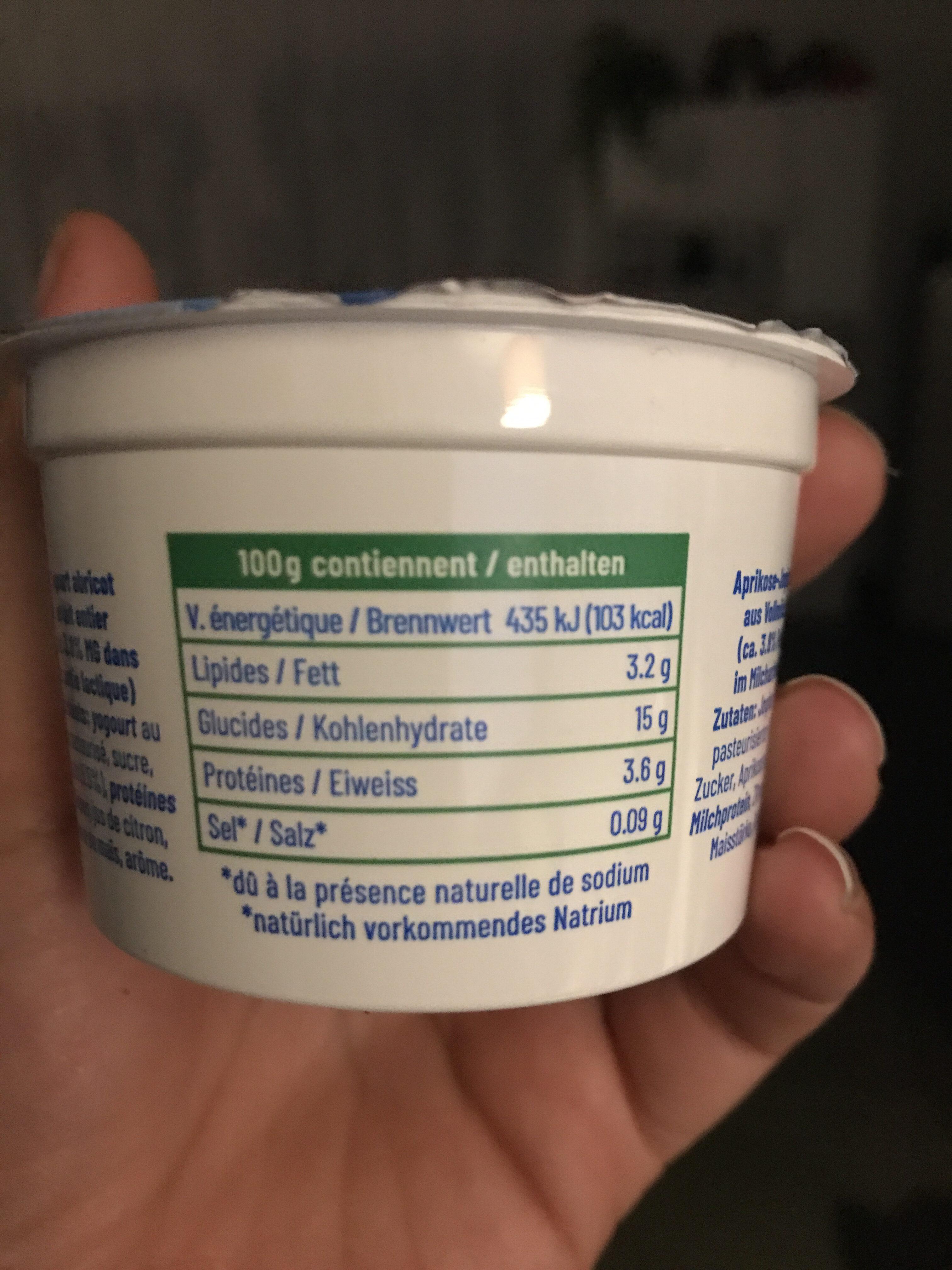 Yogourt - Informations nutritionnelles