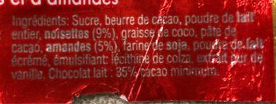 Torino Lait - Ingredients - fr