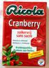 Bonbons Cranberry - Produto