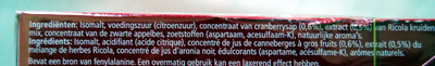 Bonbons Cranberry - Ingredients - fr