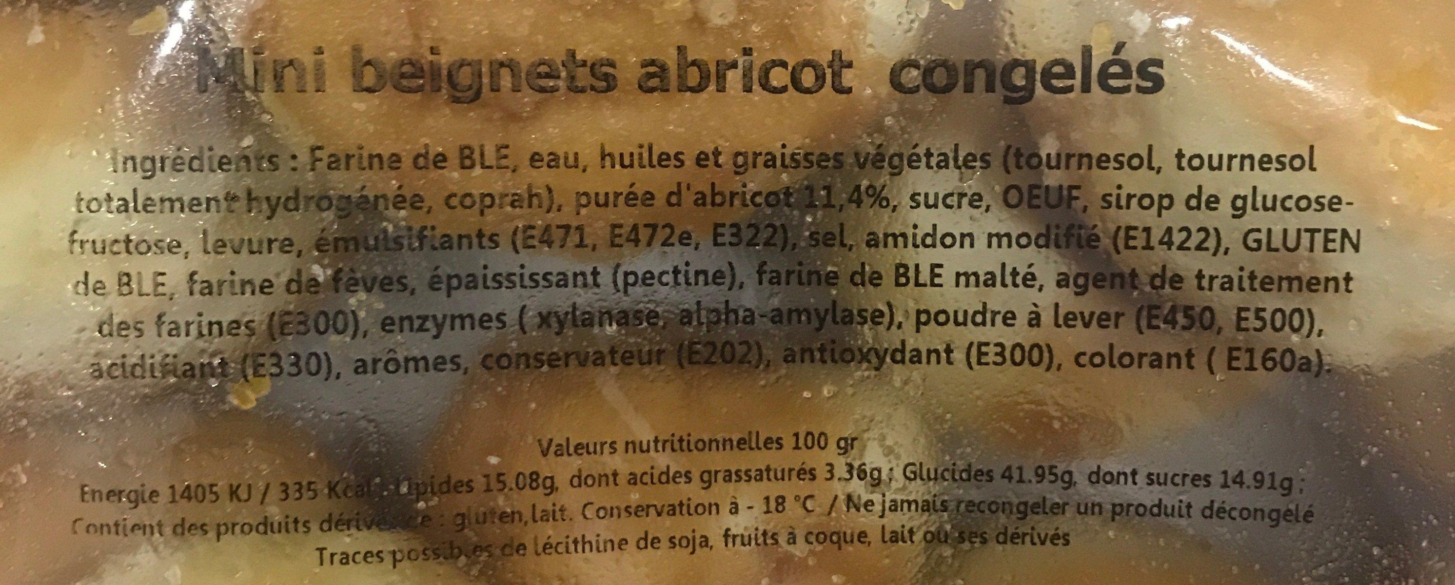 Mini beignets abricot congelés - Ingredients - fr
