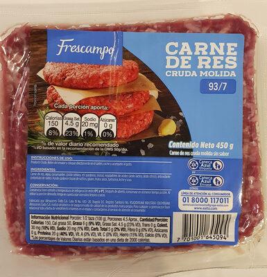 Carne de res cruda molida - Product - es