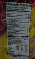 Mani con sal - Nutrition facts - es