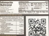 Chocolates Santander Amargo 70% Cacao 70 gr - Nutrition facts