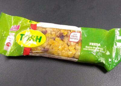 Barra de cereal con trozos de fresa - Produit - fr