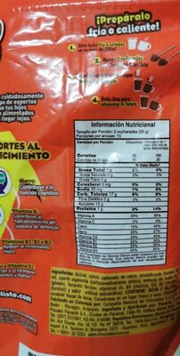 Chocolisto - Nutrition facts - fr