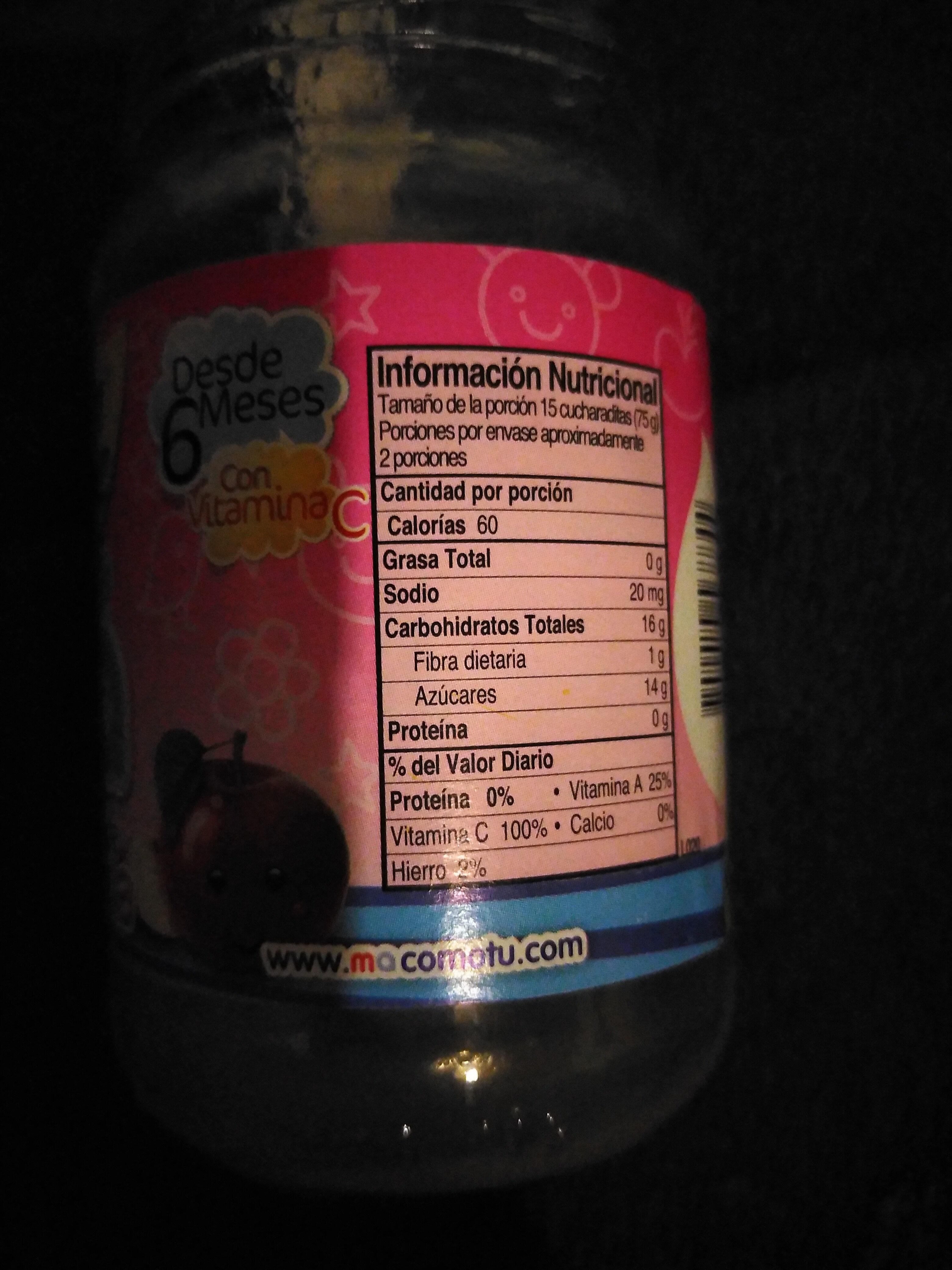 má - Ingredients - es
