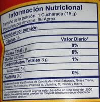 salsa de tomate - Nutrition facts - es
