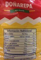 Harina de maiz amarillo - Información nutricional - es