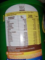 Milo - Valori nutrizionali - es