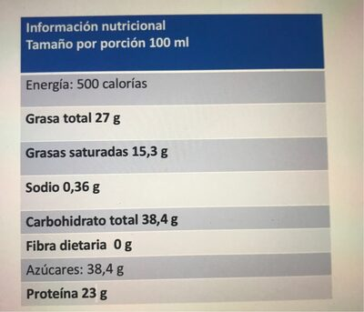Leche Klim - Nutrition facts - fr
