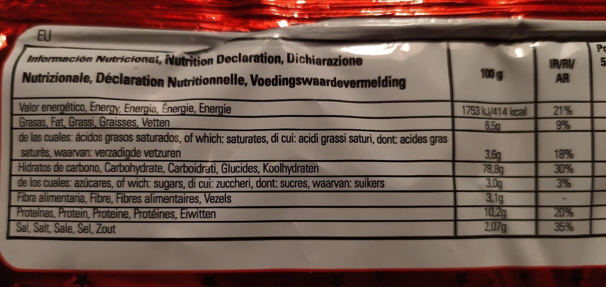 Saltin noel - Información nutricional - es