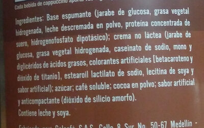 cappuccino colcafe - Ingredients