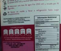 gelatina colageno - Informations nutritionnelles - es