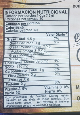 mayonesa - Ingrediënten - es