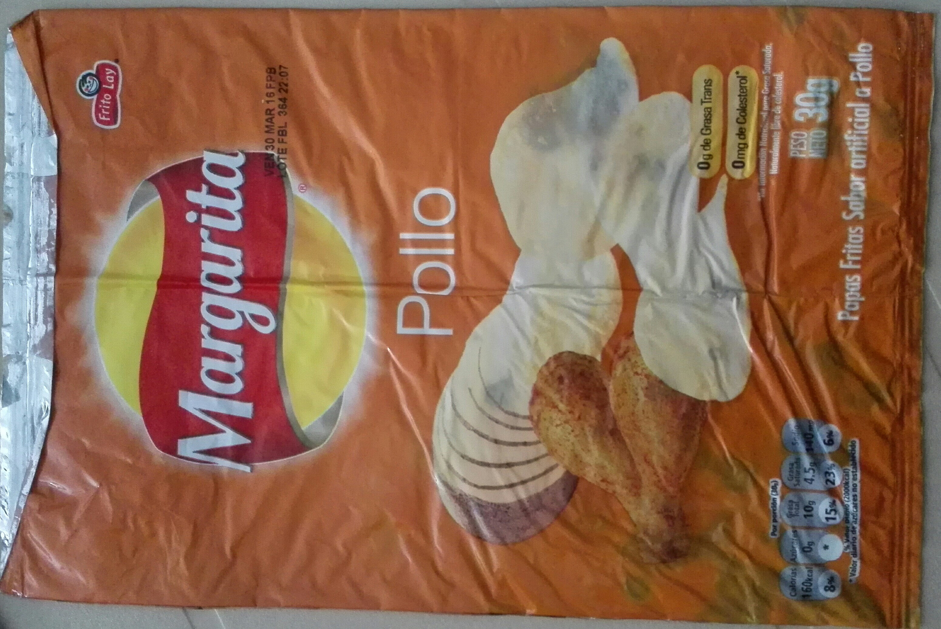 papas fritas sabor artificial a pollo - Product