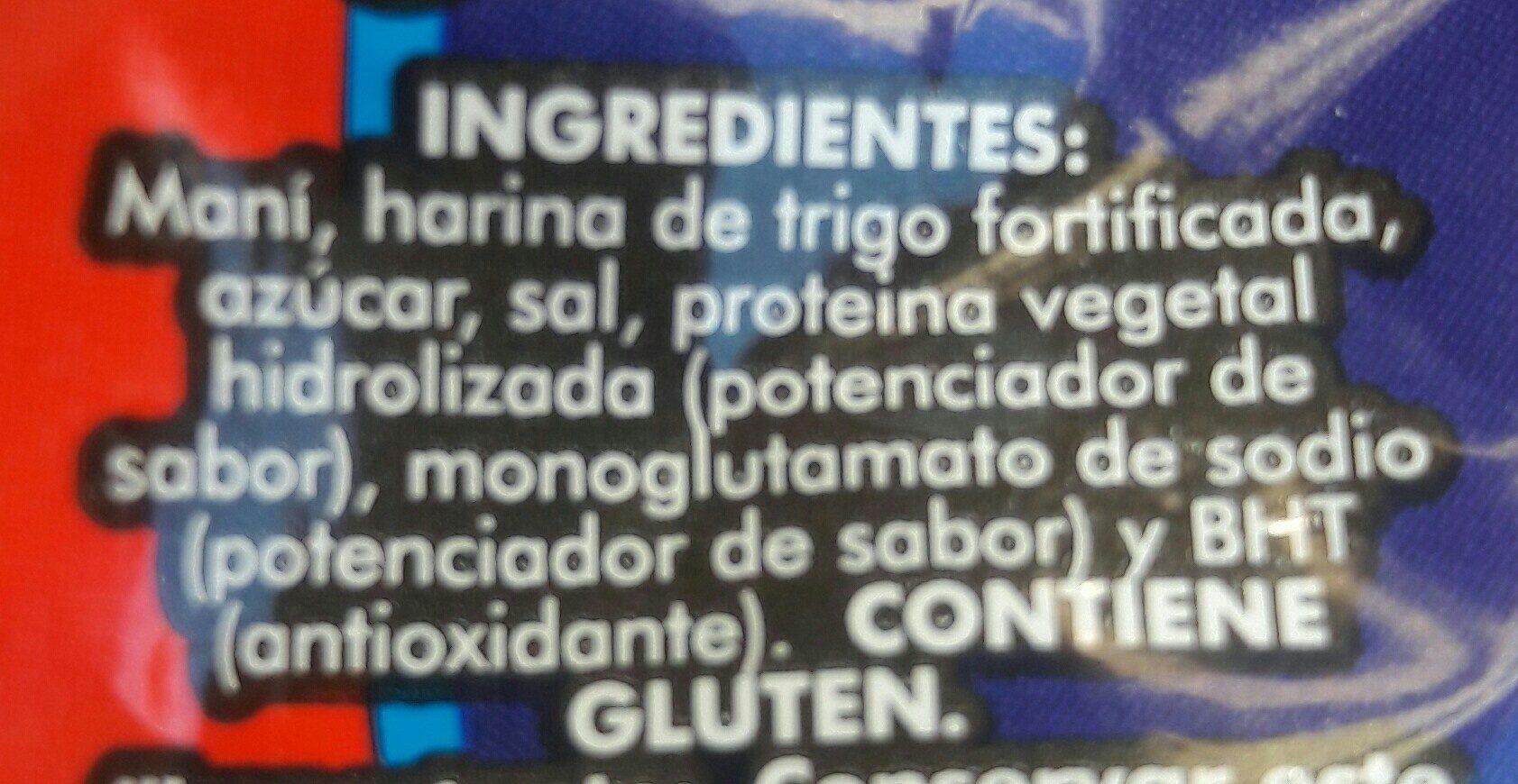 Maní Moto - Ingrédients - fr