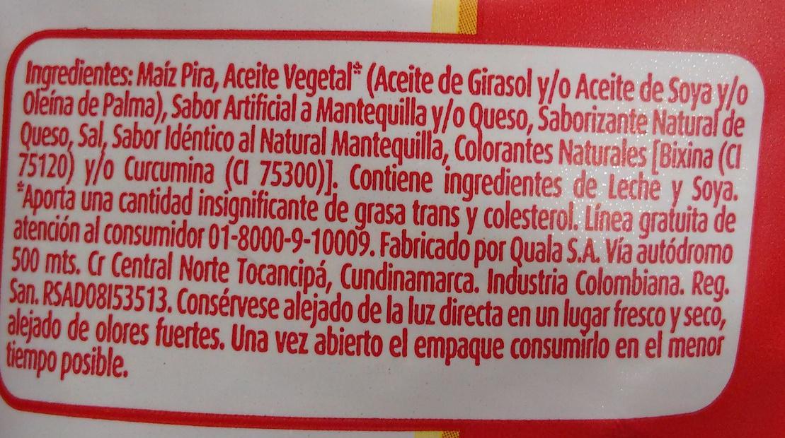 Popetas - Ingrédients - es