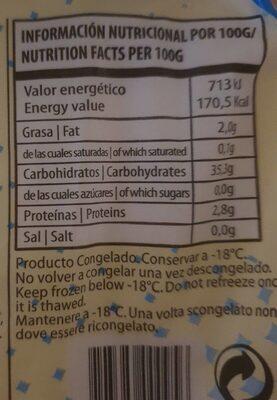 Arepa de maiz blanco - Valori nutrizionali - es