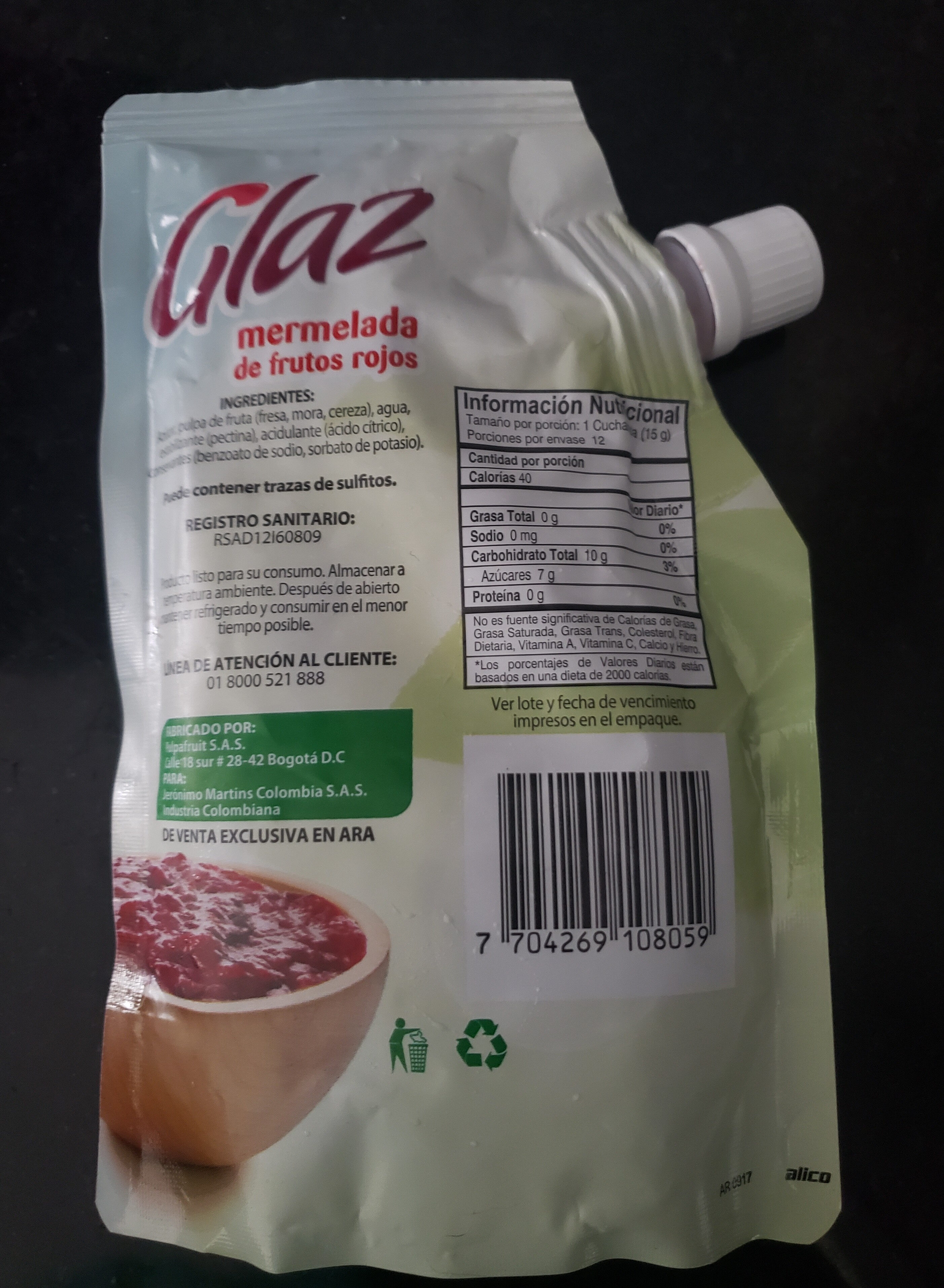 Mermelada de frutos rojos - Product