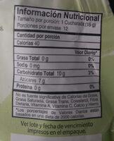 Mermelada de frutos rojos - Nutrition facts