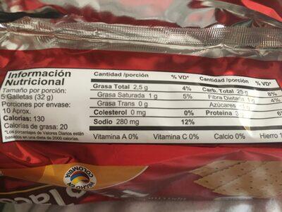Paco taco - Valori nutrizionali - es