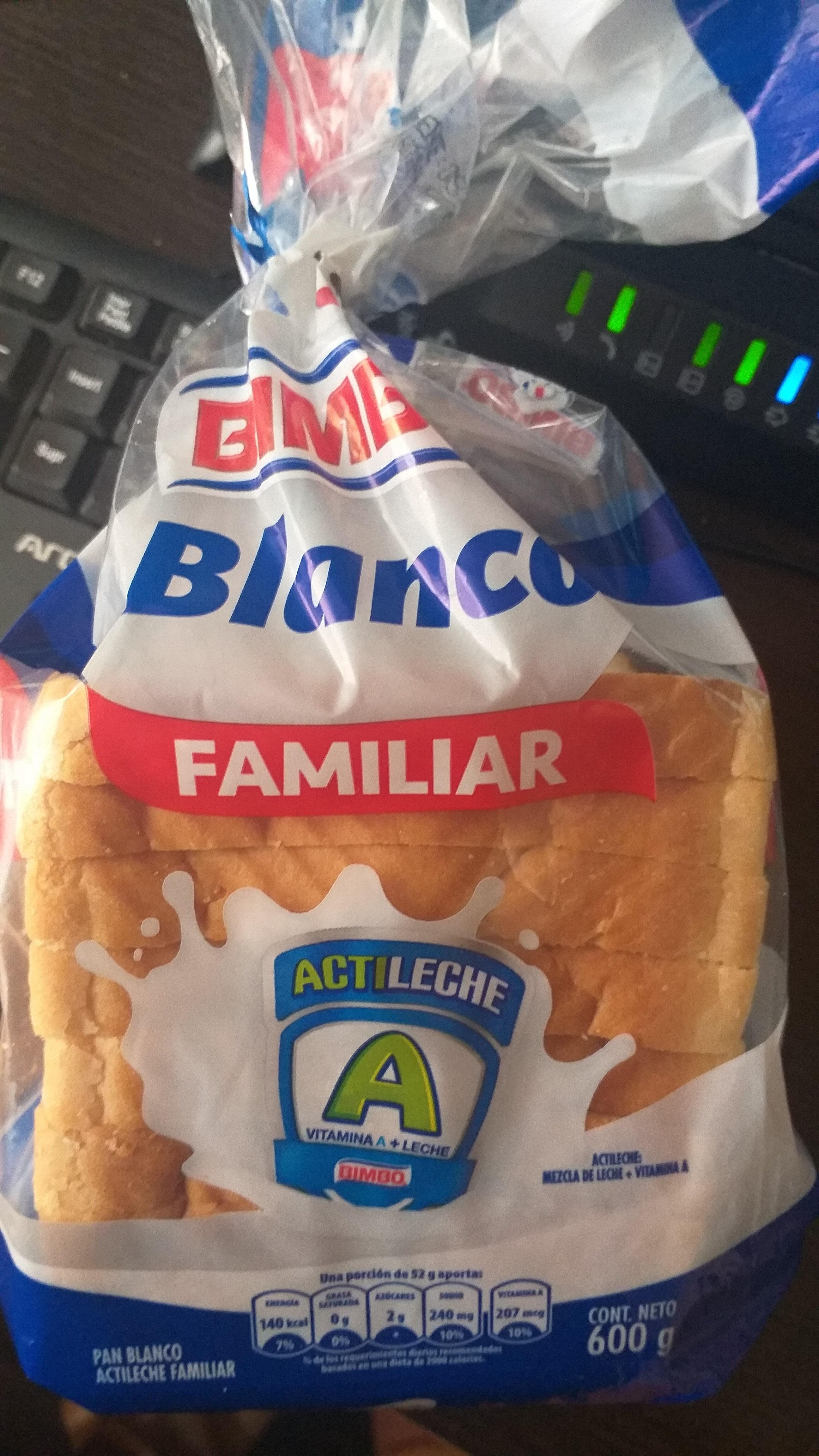 ingredientes de pan blanco bimbo